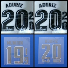 New Athletic Bilbao ADURIZ MUNIAIN football number name font print, Hot stamping Soccer patches badges