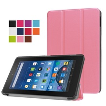 Megnetic Smart PU Leather Cover for Amazon Fire 7 2015 Tablet Case Flip Leather Stand Case for New Kindle Fire 7 7.0 inch