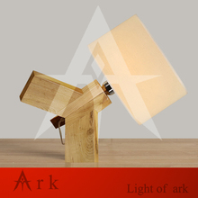 ark light Novel led wood Table Lamp Modern Industrial lamp wood AND cloth table lamp reading Style desk lighting Bedside lamp