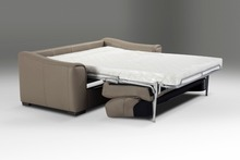 genuine real leather sofa bed living room couch/ sofa bed and mattress Modern Art Creative Multi-functional folding sofa bed(China)