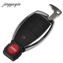 jingyuqin 10pcs Key Case Shell Keyless Remote Fob Case fit Mercedes Benz E C R CL GL SLK Battery Clamp Holder 4BTN