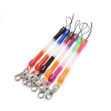 Retractable telephone cord spring key chain mobile phone chain plastic keychain tool elastic rope spring rope 2Pcs