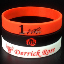60pcs signature Derrick Rose wristband silicone bracelets free shipping(China)