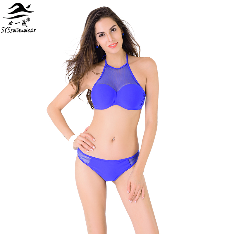 High quality New Summer Sexy Women Hollowed out Bikini Top neck Swimwear Underwire push up Beach Swimsuit XS-XL Bsthing suit<br><br>Aliexpress