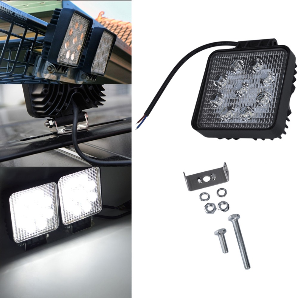 Great Square 27w Car Led Working Fog Lights 4 Auto Headlight For Truck<br><br>Aliexpress