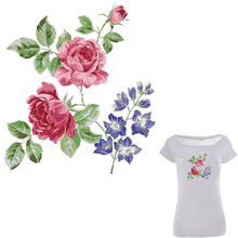 Colife Flower Patches For Clothes Iron On Patch Heat Print On T-shirt Dresses Sweater A-level Washable Stickers