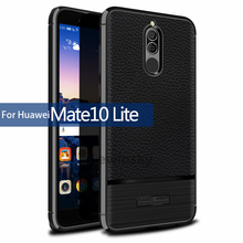 Buy Anti-Knock 360 Full Body Cover Huawei Mate 10 lite Silicon Case Shockproof Slim Carbon Leather Fiber Nova 2i TPU Luxury Case for $2.99 in AliExpress store