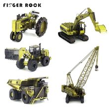 Finger Rock 3D Metal Puzzles DIY Creative Jigsaws Puzzles Color CAT Engineering Model Vehicle Excavator Tractor Truck Gift