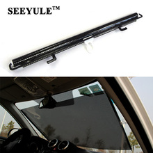 1pc SEEYULE Front Car Windshield Sun Shades Auto Retractable Rear Window Sunshade Foil Film Cover Visor Shield Screen(China)