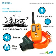 100% Original Hunter Pet Training Dog Beeper Collar Rechargeable, LCD Electric Remote Dog Training Collar For Hunter Beeper(China)