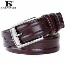 Buy Cinto masculino 2017 designer high luxury brand genuine leather pin buckle belts men casual business men belts 4012A for $11.67 in AliExpress store