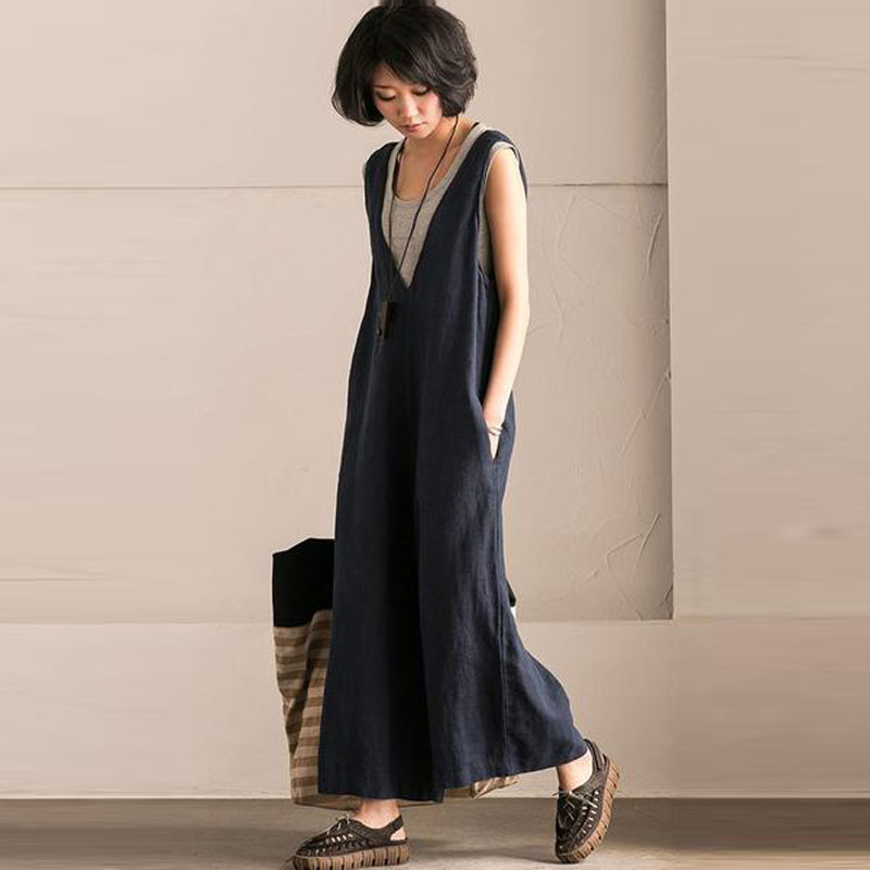 2018-Linen-Jumpsuits-Women-Harem-Rompers-Casual-Pockets-Sleeveless-Backless-Long-Pants-Loose-Playsuit-Plus-Size (6)