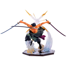 NEW hot 17cm One piece Roronoa Zoro action figure toys doll collection Christmas toy with box Combat version suolo5(China)