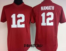 #12 Joe Namath Women's S/M/L/XL/XXL College Throwback Jersey Red and White(China)