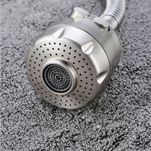 22mm kitchen faucet aerator two way water bubbler nozzle ABS brushed water saving aerator water spout