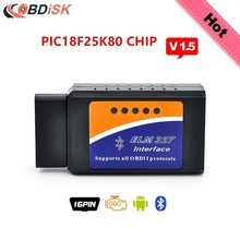 2017 Elm327 Bluetooth V1.5 BT adapter Works On Android Torque ELM 327 V 1.5 Interface OBD2 / OBD II Auto Car Diagnostic-Scanner