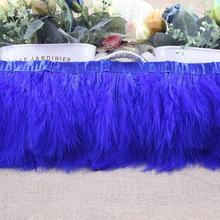 1yard Turkey Feather Ostrich Feather Dance festival party hat boots Clothing wedding accessories decoration Ribbons