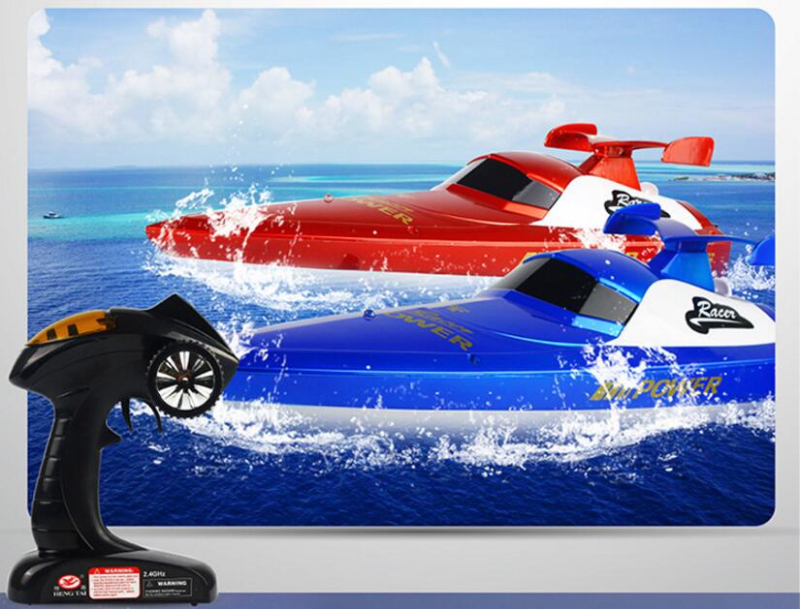 Rc boat 3835 2.4G 30-40KM/H waterproof led light 48cm large electric high speed remote control racing Speedboat boat vs T10-A