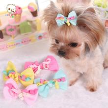 Newest Dog Accessories ribbon Material bowknot dog small hairpin dogs Hair Accessories for dogs and pet 4 color. PY359