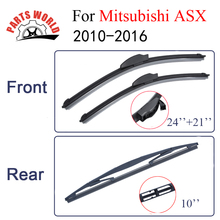 Partsword Front And Rear Wiper Blades For Mitsubishi ASX 2010-2016 Windshield Rubber Car Accessories(China)