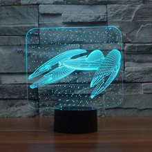3D touch remote control LED lamp Star Trek battleship Star Wars  lights LED Bulbing Night Light Table Lamp Gadget Nightlight