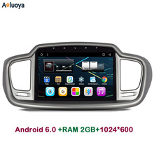 Aoluoya 2GB RAM Android 6.0 CAR DVD Player stereo Radio GPS Navigat FOR KIA Sorento2015 2016 audio player WIFI Mirror link DAB+(China)