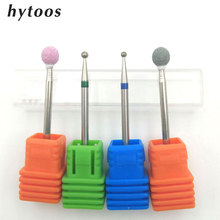 "HYTOOS 4 PCS Spherical Nail Drill Bit 3/32"" Rotate Burr Cuticle Clean Mill Manicure Pedicure Tools Nail Drill Accessories"