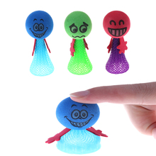 1pcs Lovely Kids Funny Bounce Toy Shock Joke Shocking Gadget Prank Toy Trick For Kids Gifts Practical Jokes Color Randomly(China)