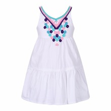 Girl Summer Dress Embroidery Robe Fille Princess Beach Dress Kids Costumes 2017 Brand Shoulderless Children Dresses for Girls