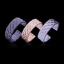 2017 Fashion Jewelry Fish Scale Modeling Personalized Bracelet Alloy Bracelets Bangles For Women Pulceras Para Mujer