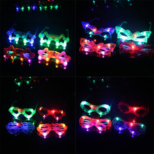 1pc Children Kids Flashing Party LED Light Glasses Birthday Presents Gifts Party Supplies Christmas Decoration