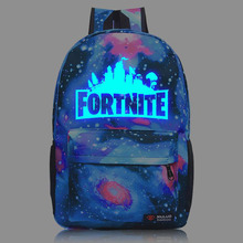 2018 Fortnite Backpack Battle Royale School Bag Boys Girls Back pack Bag Student Luminous Notebook Laptop Bags Mochila