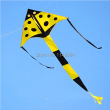 free shipping high quality 10pcs/lot ladybug kite with handle line weifang kite flying kid kites outdoor toys hcxkite factory(China)