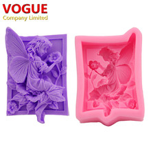 DIY Flowers Elf Silicone Moulds Handmade Soap Mold Sugar Craft Fondant Cake Decorating Tools N2922