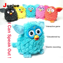 Electronic Toys Color Electric Pets Owl Elves Plush toys Recording Talking Toys Christmas Gift with Furbiness boom Speak Out Pet