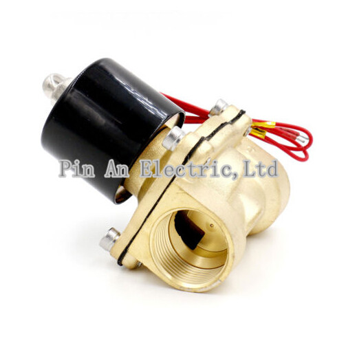 Free Shipping 1 Water Solenoid Valve Air Oil Brass Valve NBR 2W250-25 DC12V DC24V AC110V or AC220V<br>