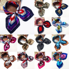 19 Colors High Soft Silk Square Scarf Scarves Bandanas Head Wrap Shawl Satin Stewardess