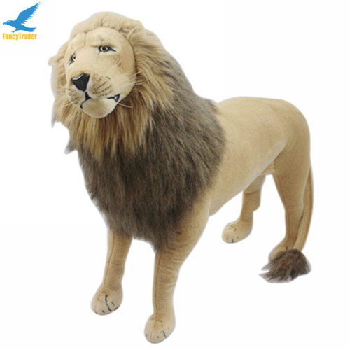 Fancytrader 43\'\' Giant Plush Stuffed Simulation Lifelike Lion King Simba Can be Rided by Kids Great Gift FT90284 (4)
