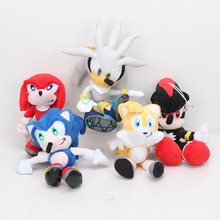 25-32cm anime Hedgehog Plush Toys Doll shadow of Hedgehog cute Soft Stuffed Dolls for boys girls Gift(China)