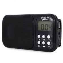 2016 Portable Mini USB FM Radio Speaker Music Player with TF Card Slot AUX Audio Input Speaker Radio with  LED Flash Light