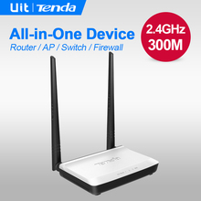 Tenda N300 300Mbps Home Wireless WiFi Router, Repeater, IP QoS, WPS Button, Wireless AP+Switch+ Firewall integrated ,Easy Setup