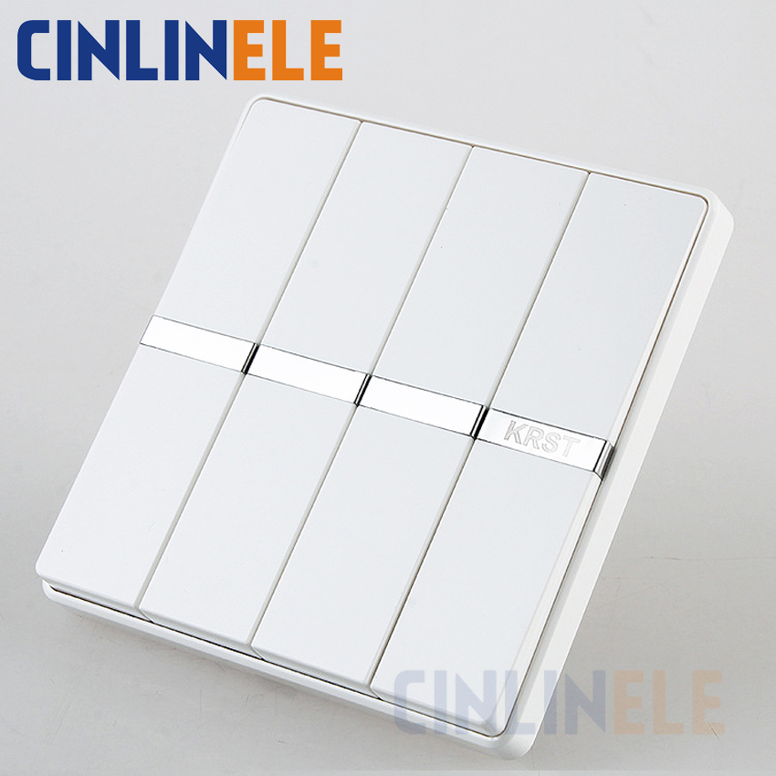 1Pcs Luxury Wall Switch, 4 Gang 1 Way, Ivory White, Brief Art Weave, Light Switch, AC 110~250V  10A No border design 86mm*86mm<br><br>Aliexpress