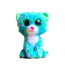 Ty Beanie Boos Original Big Eyes Plush Toy Doll 10 - 15cm Blue Leopard TY Baby For Kids Brithday Gifts