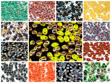 Hot new Top Czech 5x2.5mm Luster Czech Glass Seed Beads Two-Hole Seed Beads 50pcs you choose colors
