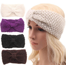 NEW  Crochet Bow Turban Knitted Headwrap Hair Band Winter Ear Warmer Headband 's accessories 5pcs/lot