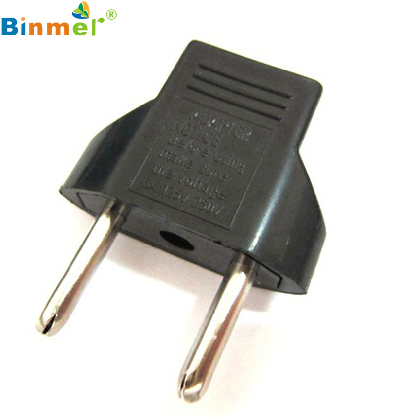 white/black US to EU AC Power Plug Travel Converter Adapter ...