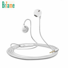 Briame Stereo Sport Running Earphone Bass Music Handfree Earphones With Microphone for iPhone 5 5S 6 6S Samsung Drop Shipping