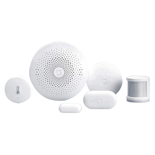 Original Xiaomi Smart Home Automation Mijia 5 in 1 Kit LED GateWay 2 Zigbee Sensor WiFi Switch interruptor domotique domotica