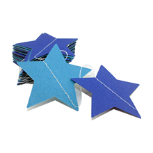 Wall Hanging Paper Star Garlands 4m Birthday String Chain Wedding Party Banner Handmade Kids Room Door Christmas Tree Home Decor(China)