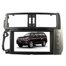 2 din 8 inch Car DVD Player for Toyota Prado 150 Land Cruiser Car Radio for toyota prado 150 with GPS RDS Bluetooth USB  MAP